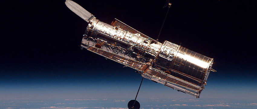 Picture of NASA's Hubble Space Telescope.