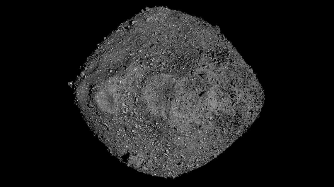 OSIRIS-REx mission scientists thought sampling a piece of Bennu would be like a walk on the beach, but the surprisingly craggy surface proved to be more of a challenge. NASA/Goddard/University of Arizona
