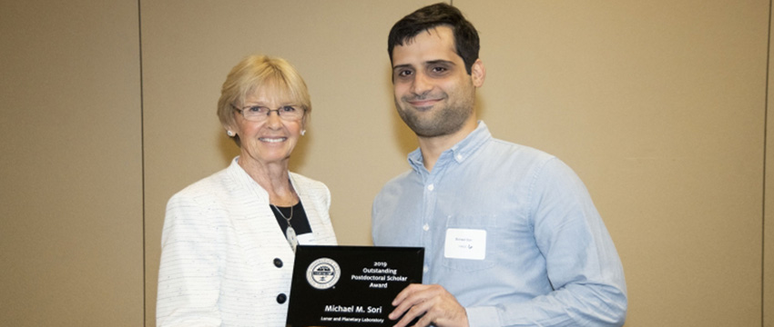 Dr. Michael Sori was presented with the Outstanding Postdoctoral Scholar Award at the 2019 Awards of Distinction Luncheon and Ceremony, on April 1st.