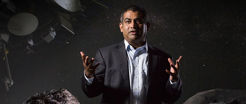 """Vishnu Reddy: """"The question is: How prepared are we for the next cosmic threat?"""" (Photo: Bob Demers/UANews)"""