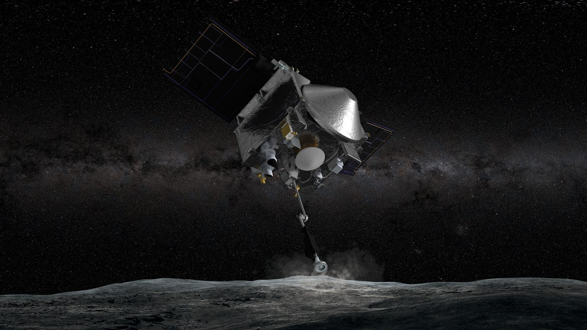 Next year, the OSIRIS-REx spacecraft will use its Touch-And-Go Sample Acquisition Mechanism to touch the surface of an asteroid for five seconds, collecting up to 4.4 pounds of rocks and dust. The first-of-its-kind NASA mission is led by the UA, where undergraduate and graduate students are working alongside faculty and staff to make significant scientific contributions.