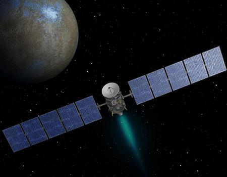 Dawnis a Discovery class mission that will improve our understanding of our asteroid belt by mapping the two largest residents, Vesta and Ceres.
