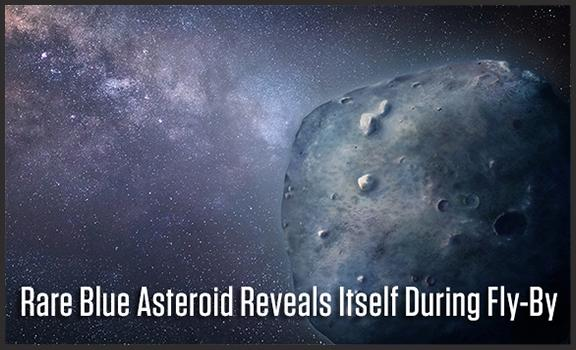 A team led by UA doctoral student Teddy Kareta obtained a rare glimpse of the bizarre, blue asteroid that is responsible for Geminid Meteor Shower.