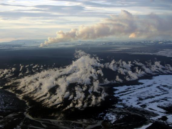 """Created by an eruption five years ago, the Holuhraun lava flow field in Iceland is some of the newest """"real estate"""" in the world."""