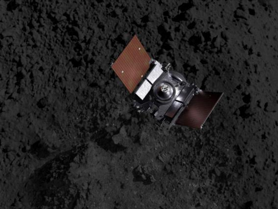 OSIRIS-REx above Bennu