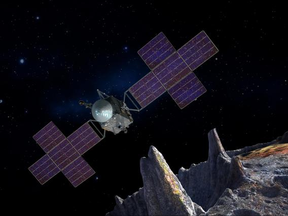 Psyche mission spacecraft and solar panels