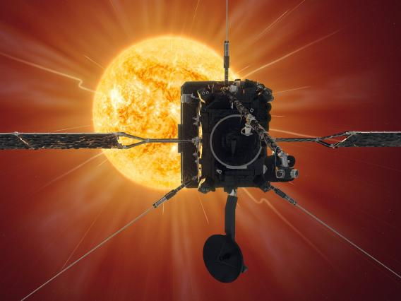 Solar Orbiter's first close approach to the Sun