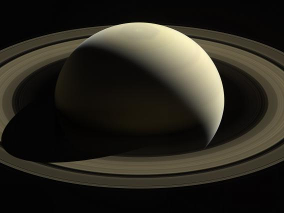 With this view, Cassini captured one of its last looks at Saturn and its main rings from a distance.