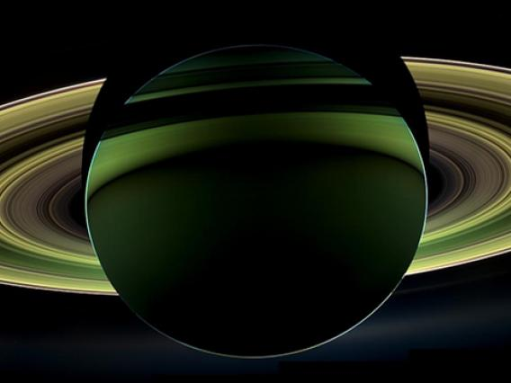 NASA's Cassini spacecraft delivered this glorious view of Saturn on Dec. 18, 2012, taken while the spacecraft was in Saturn's shadow. The cameras were turned toward Saturn and the sun so that the planet and rings are backlit. (Credit: NASA/JPL-Caltech/Space Science Institute)