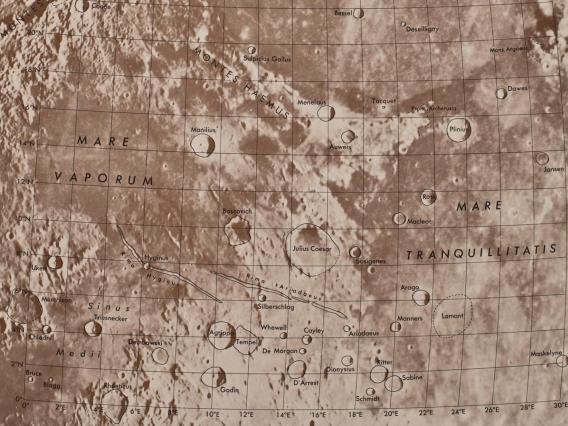 A page from the Rectified Lunar Atlas. (Courtesy of UA Lunar and Planetary Laboratory)