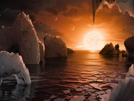 Artist's impression of the perpetual sunrise that might greet visitors.