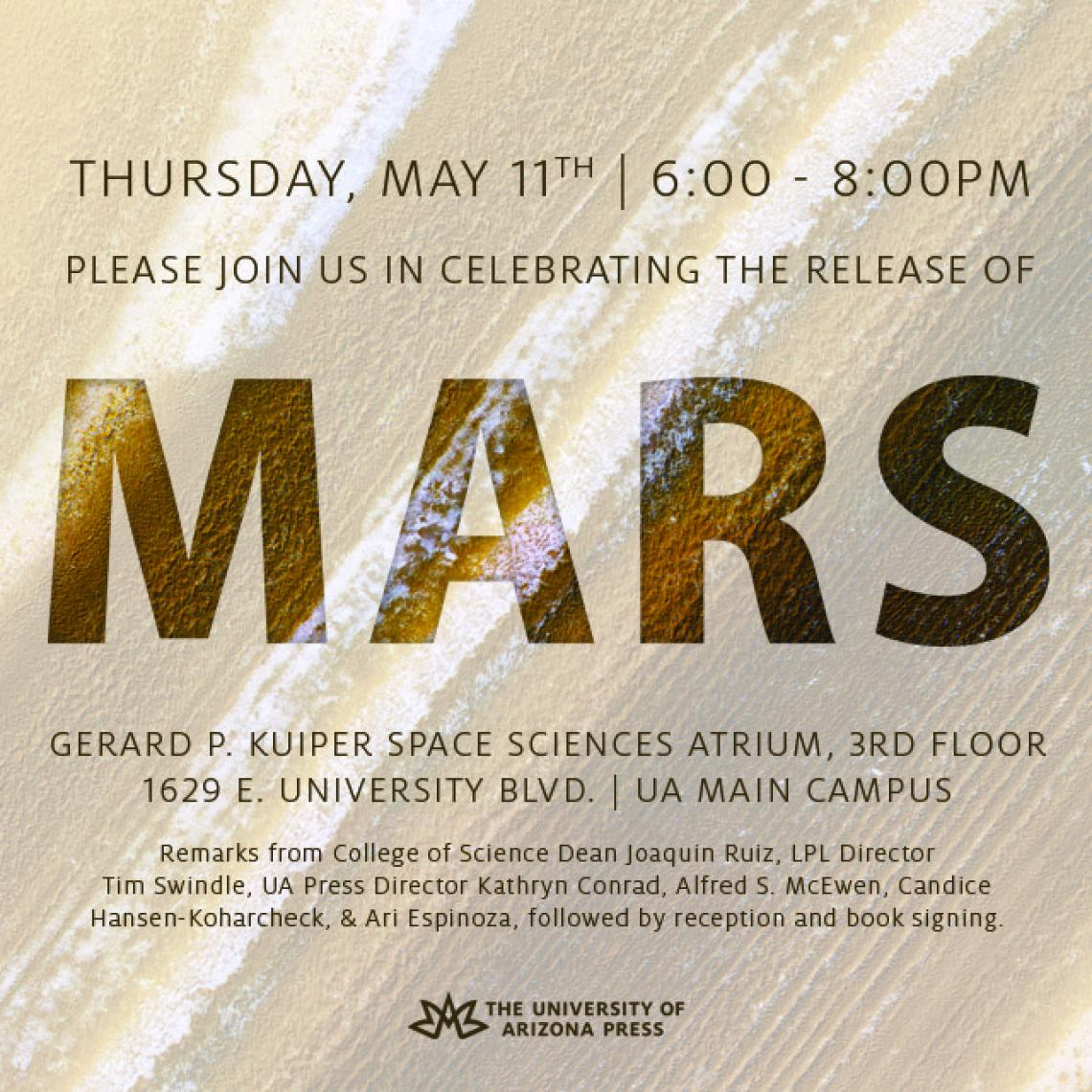 Celebrating the release of the book MARS