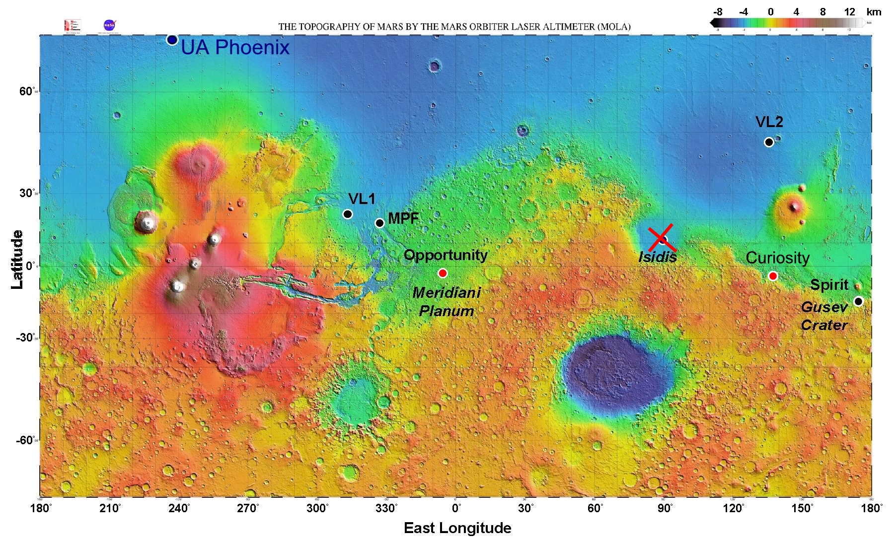 mars rover landing map - photo #2